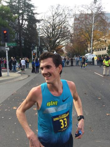 Finish of Cal International Marathon. Photo from Hayden Teachout