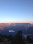 View from the Summit of Mammoth Mountain, picture taken on a little night run up the ski hill.